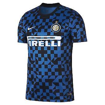 2019-2020 قميص إنتر ميلان نايكي للتدريب قبل المباراة (الأزرق)