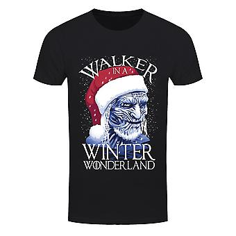Grindstore Herren Walker In einem Winter Wunderland T Shirt