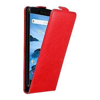 Funda Cadorabo para la cubierta de la caja Nokia 6.1 2018 - funda del teléfono en diseño flip con cierre magnético - Funda de la funda de la caja protectora libro folding Style