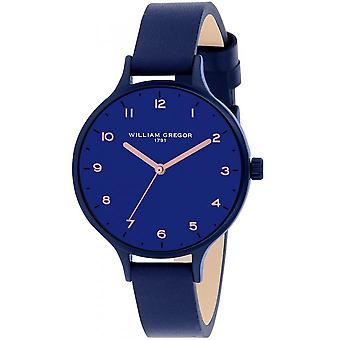 Watch William Gregor in 1791 BWG30052G-500 - dater leather Blue Man
