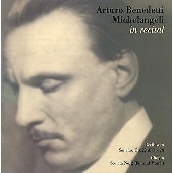 Beethoven/Chopin - Arturo Benedetti Michelangeli in Recital [CD] USA import