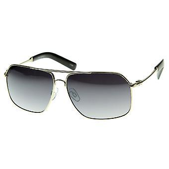 Premium-Stil Metall Asian Fit optische Qualität Brillen Aviator Sonnenbrillen