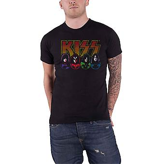 KISS T Shirt Band Logo Faces and Icons new Official Mens Black