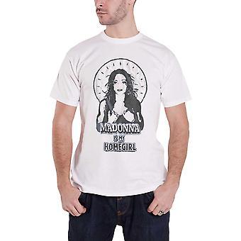 Madonna T Shirt Madonna Is my Homegirl Tour new Official Mens White