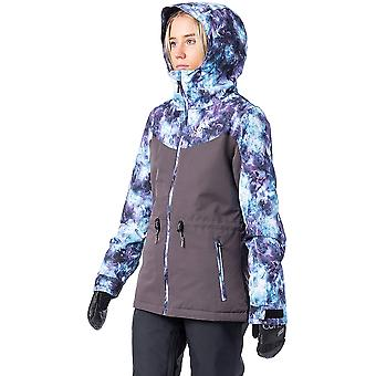 Rip Curl Betty gemusterte Schneejacke in Legion blau