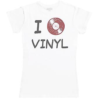 I Love Vinyl - Camiseta para Mujer