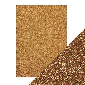 Tonic Studios A4 Craft Perfect Glitter Card, Welsh goud