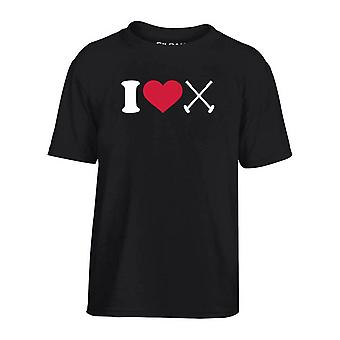 T-shirt bambino nero dec0015 amo el polo
