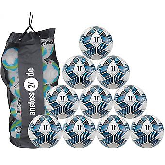 10 x ELF Sports Training Ball - Train Pro - hand-stitched with golf ball structure - incl. ball bag