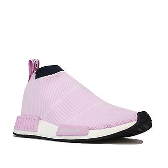 Mulheres adidas Originais Nmd_Cs1 Primeknit Trainers In Clear Lilac / Legend Ink