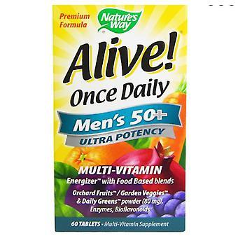 Elossa! Kerran päivässä miesten ' s 50 + multi-vitamiini (60 tablettia)-Luonto ' s Way