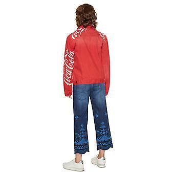 Desigual Women's Red Coke Coca Cola Denim Jacket