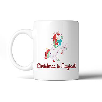 Christmas Magical Unicorn Cool WHITE Mug Holiday Gift