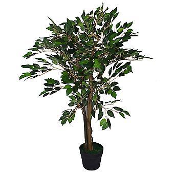 90 cm künstliche Ficus 90cm Pflanze grün - große