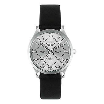 Zadig Watch - Voltaire ZVF1026 - Women's Black Leather Box Bracelet