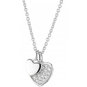 Fossil necklace and pendant JFS00196040 - STERLING SILVER Silver Crystals Transparent Women