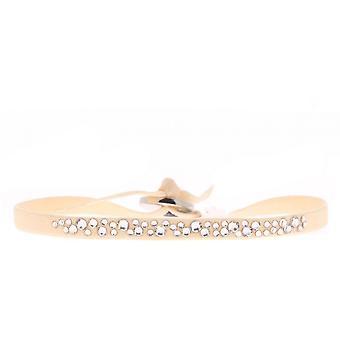 Bracelet Les Interchangeables A37770 - Bracelet Tissu Rose Cristaux Swarovski Femme