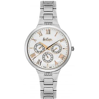 Shows Lee Cooper-LC06466-320 - steel Silver Dial markers and hands s Dor white pink woman