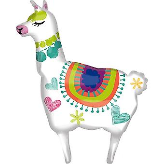 Anagram Llama Supershape Foil Balloon
