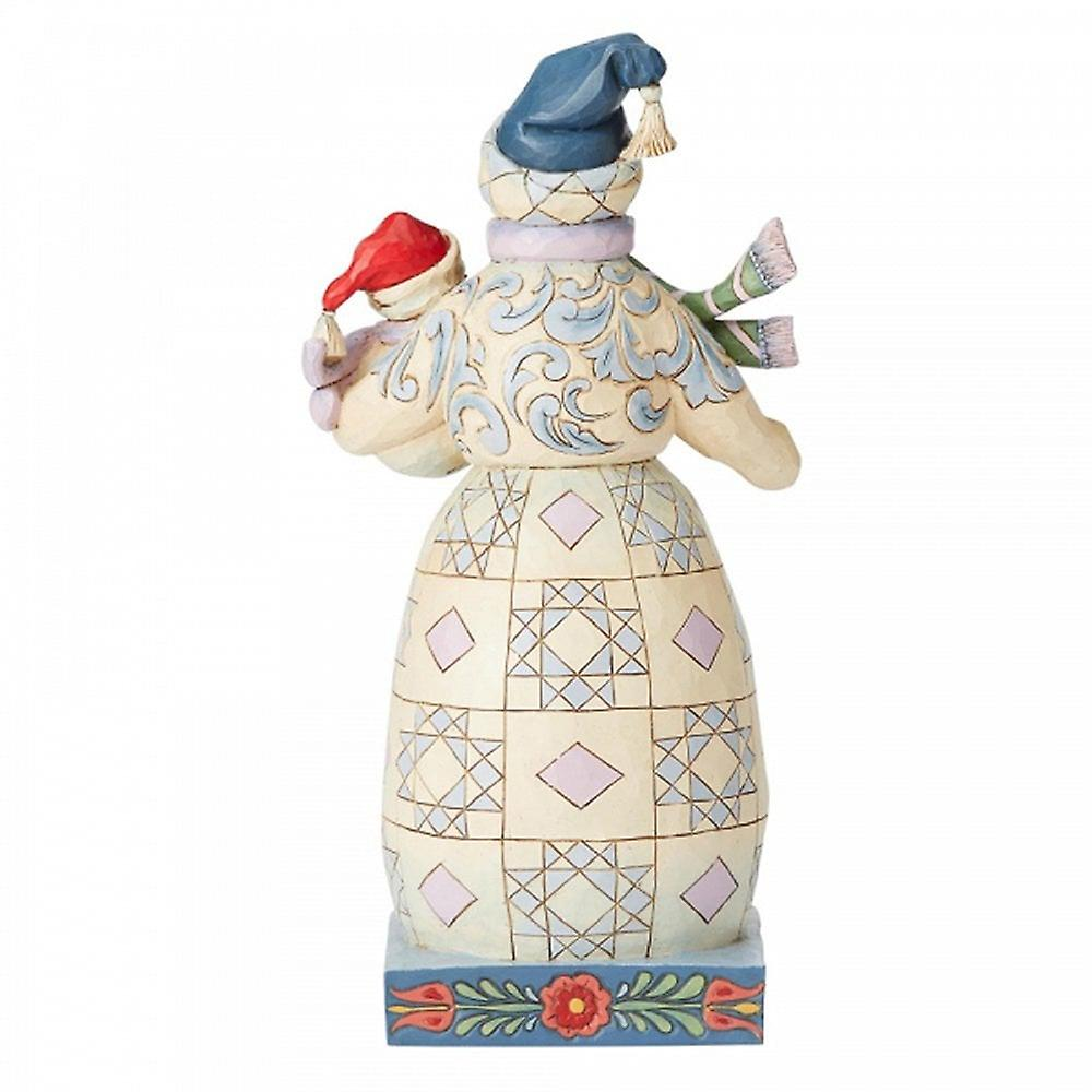 Jim Shore Heartwood Creek Bundled In Love Snowman With Snowbaby Figurine