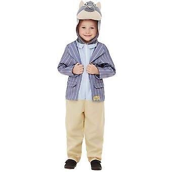 Vind i Willows Ratty Deluxe kostume barn blå