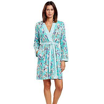Rosch 1203139-15647 Frauen's neue Romantik moderne blaue Blumen Floral Robe Dressing Kleid