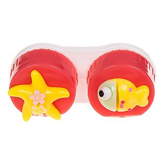 Dark Pink Fish Contact Lens Case