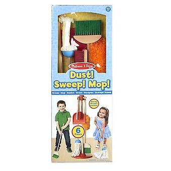 Childrens Melissa and Doug Let's Play House! Dust, Sweep & Mop 3+ years