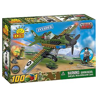 Small Army 100p Invader Plane Military Aircraft Construct St
