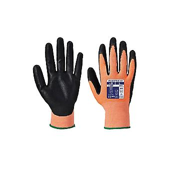 Portwest amber cut - nitrile foam workwear safety gloves a643