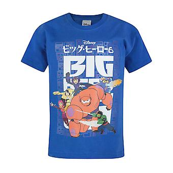 Official Big Hero 6 Flying Boy's Blue T-Shirt