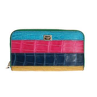 Dolce & Gabbana Multicolor Alligator Caiman Leather Continental Wallet
