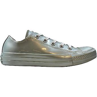 Converse Chuck Taylor All Star Metallic Rubber OX Pure Silver 553272C Women's