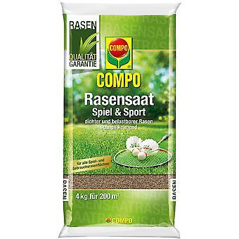 COMPO العشب لعبة البذور والرياضة، 4 كجم
