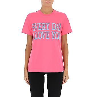 Alberta Ferretti 07011672j1206 Women's Fuchsia Cotton T-shirt