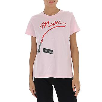 Marc Jacobs C6000034680 Dames's Pink Cotton T-shirt