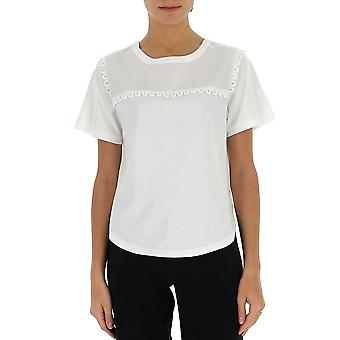 See By Chloé Chs20sjh32081109 Women's White Cotton T-shirt