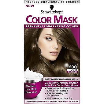 Schwarzkopf Kolor Maska do włosów - Jasnobrązowy 600