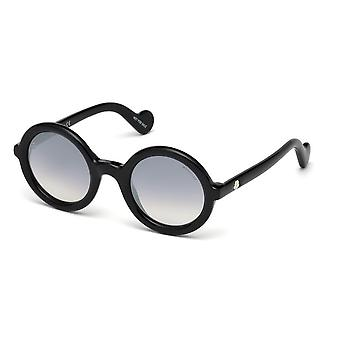 Moncler ML 0005 01B Shiny Black/Smoke Gradient Sunglasses