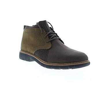 Mark Nason Lite Lugg Webster  Mens Brown Canvas Mid Top Chukkas Boots