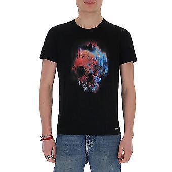 Alexander Mcqueen 595650qoz600901 Miehet's Musta Puuvilla T-paita