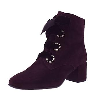 Högl 6-10 4142 Francoise Stylish Ankle Boots In Dark Plum Suede