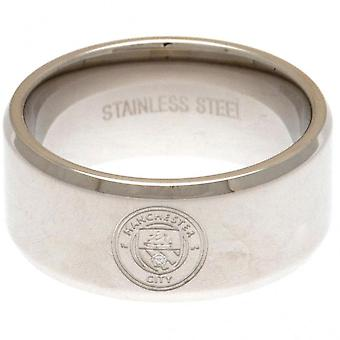 Manchester City FC Crest Band Ring