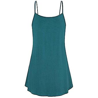 ANJUNIE Women Summer Loose Button V Neck Cami Tank Tops Vest, Green, Size Small