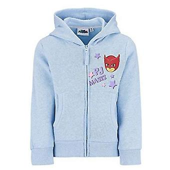 Pj masks girls sweatjacket hoodie blue