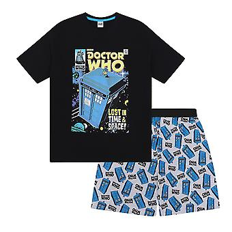 Doctor Who Tardis Official Gift Boys Kids Loungewear Short Pyjamas