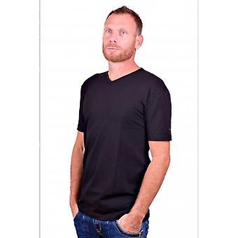 Alan Red T-Shirt V-Ausschnitt Oklahoma Schwarz (Two Pack)