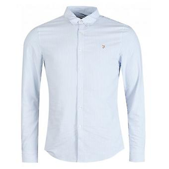 Farah Brewer rayas camisa Oxford