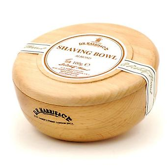 D R Harris Wooden Shaving Bowl + Soap 100g-Almond-Beech