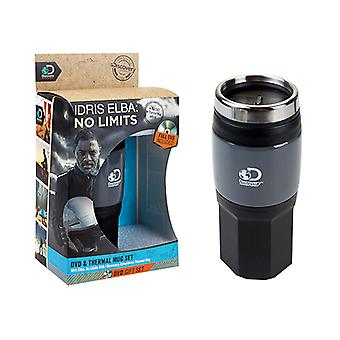 Top DA Idris Elba No Limits DVD & Thermal Mug Set Outdoor Travel Cup